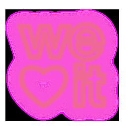 media, neon, set, social, weheartit icon