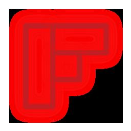 flipboard, media, neon, set, social icon