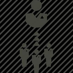 arrow, group, person, user icon