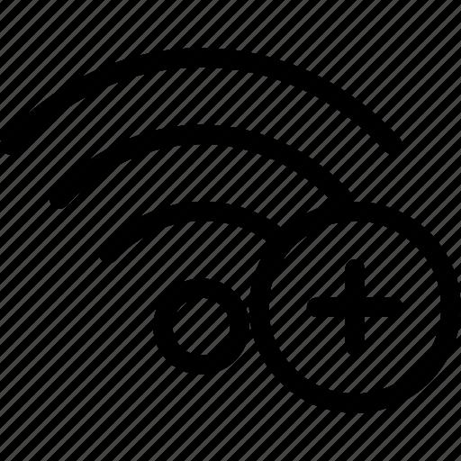 add, network, new, wifi, wireless icon