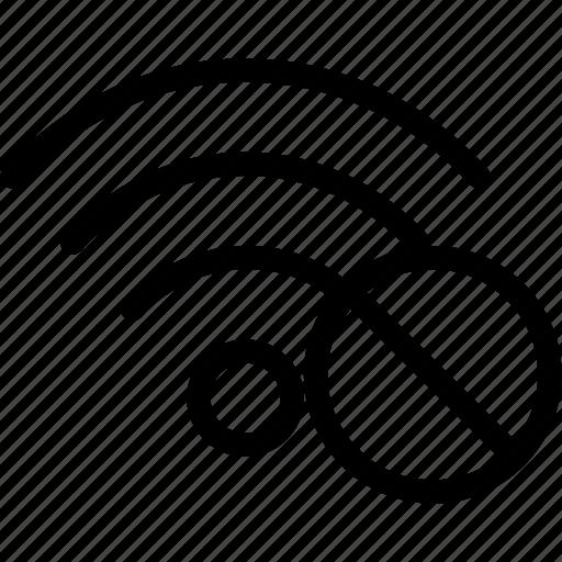 cancel, network, no, remove, social, wifi icon