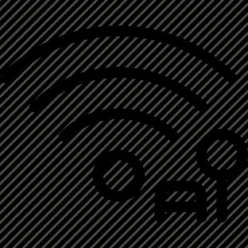 communication, connection, network, public, unlock, wifi icon