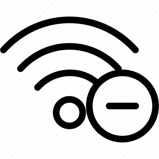 cancel, delete, network, remove, social, wifi icon