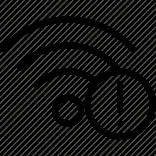 alert, error, network, warning, wifi, wireless icon