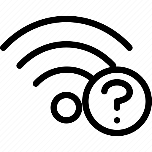 connection, network, question, social, wifi, wireless icon
