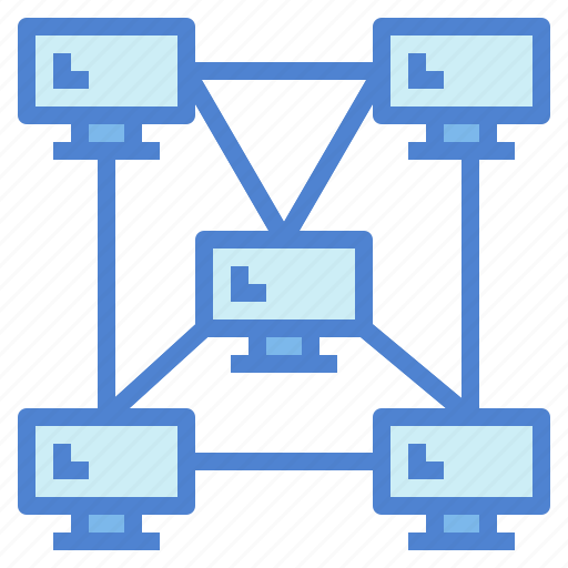 connection, hybrid, link, network, networking icon