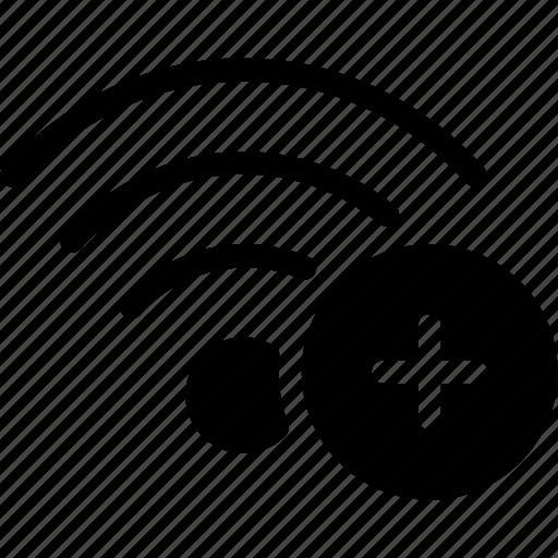add, communication, network, wifi, wireless icon