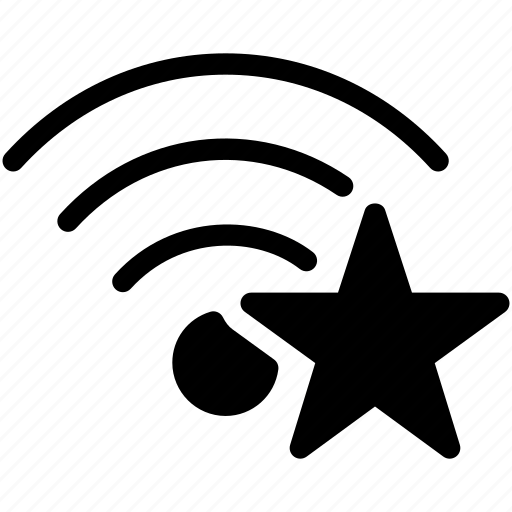 favorite, network, star, wifi, wireless icon