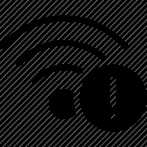 alert, connection, error, wifi, wireless icon
