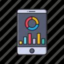 chart, graph, mobile, phone, statistics