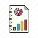 document, file, graph, report, sheet icon