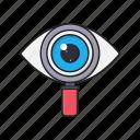 case, eye, review, search, study