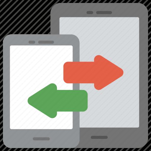 data converting, data integration, mobile data exchange, mobile data transformation, mobile network sharing icon