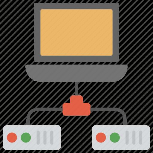 data center, database server, hosting center, server, web hosting icon