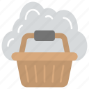 cloud shopping, cloud with basket, ecommerce, online shop, online shopping icon