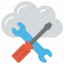 cloud computing configuration, cloud management, cloud server repair, cloud testing, cloud tools icon