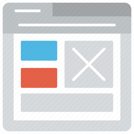 web design, web development, web layout, web wireframe, website template icon