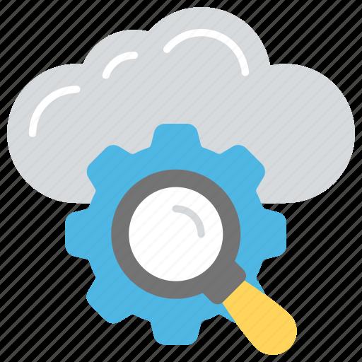 cloud internet, cloud internet searching, cloud-based search engine, internet search engine, search service in cloud icon