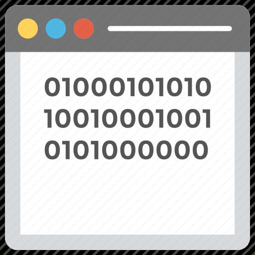 abi programming, application binary interface, binary code interface, finger touching binary code, programming interface icon