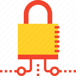 access, lock, network, padlock, protection, safe, security icon