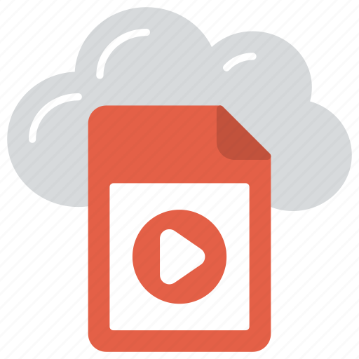 cloud file storage, cloud media file, online media file, online media storage, online video storage icon