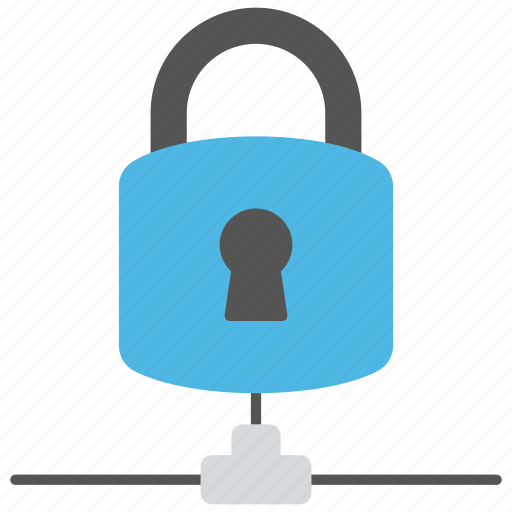 cyber security, data protection, internet security, network padlock, network security icon
