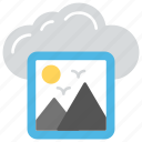 cloud photo storage, image hosting service, image sharing website, online photo storage, photo sharing site icon