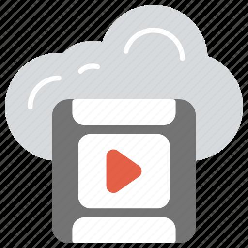 cloud multimedia, cloud video streaming, digital multimedia, multimedia cloud computing, online video icon
