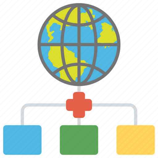 global data centers, global network of servers, global server, international data centers, web hosting icon