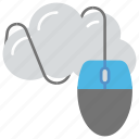 cloud computing, cloud hosting, cloud mouse, computer mouse, networking icon