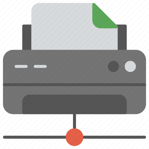 instant printing, internet fax, network printer, online fax, wireless technology icon