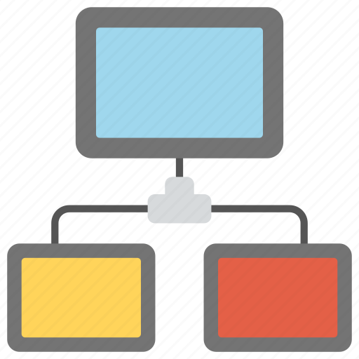 client and server, client and server communication, client server model, distributed application, inter-process communication icon