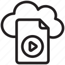cloud file storage, cloud media file, online media file, online media storage, online video storage icon