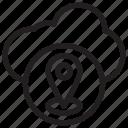 cloud gps computing, cloud tracker, gps concept, navigation technology, web locationing icon