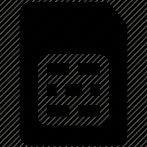 card, chip, mobile, mobile sim, number, sim, sim card icon