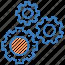 cogs, cogwheel, gears, options, setting