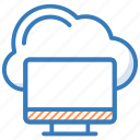 cloud computing, cloud connection, cloud drive, cloud network, monitor icon