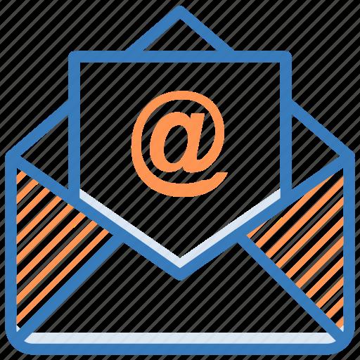 arroba, email, envelope, inbox, letter icon