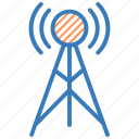 communication, signal tower, wifi antenna, wifi tower, wireless antenna icon