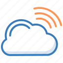 cloud network, wifi cloud, wifi signals, wifi zone, wireless network icon