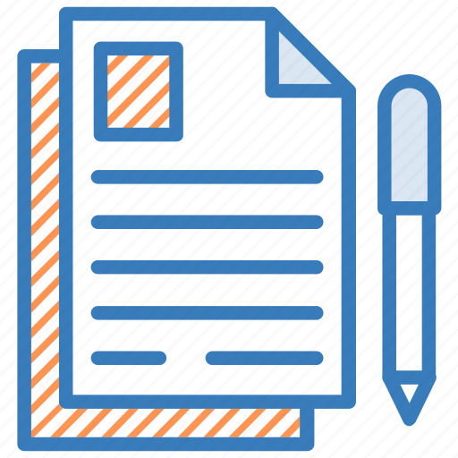 file, paper, pencil, sheet, writing icon