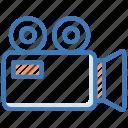 camera, film camera, movie camera, video camera, video recording icon