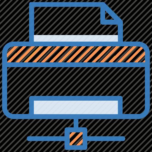 facsimile machine, network printer, networking, printer, printer sharing icon