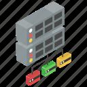 data architecture, data infrastructure, network server, server hosting, shared server icon