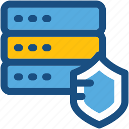 cyber security, data protection, database, network security, server security icon