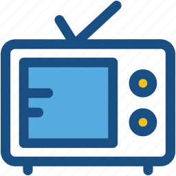electronics, retro tv, tv, tv set, vintage tv icon