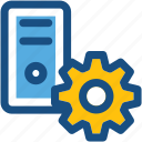 cog, cogwheel, cpu repair, cpu setting, pc tower icon