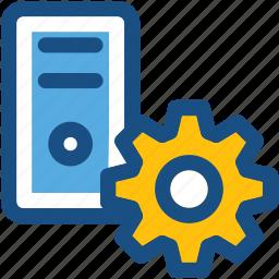 cog, cogwheel, cpu repair, cpu setting, pc tower icon