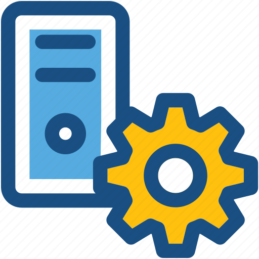 Cog, cogwheel, cpu repair, cpu setting, pc tower icon - Download on Iconfinder