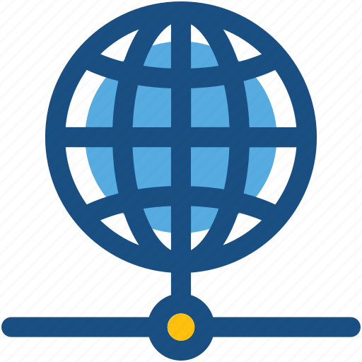 globe, internet connection, internet server, networking, web client icon